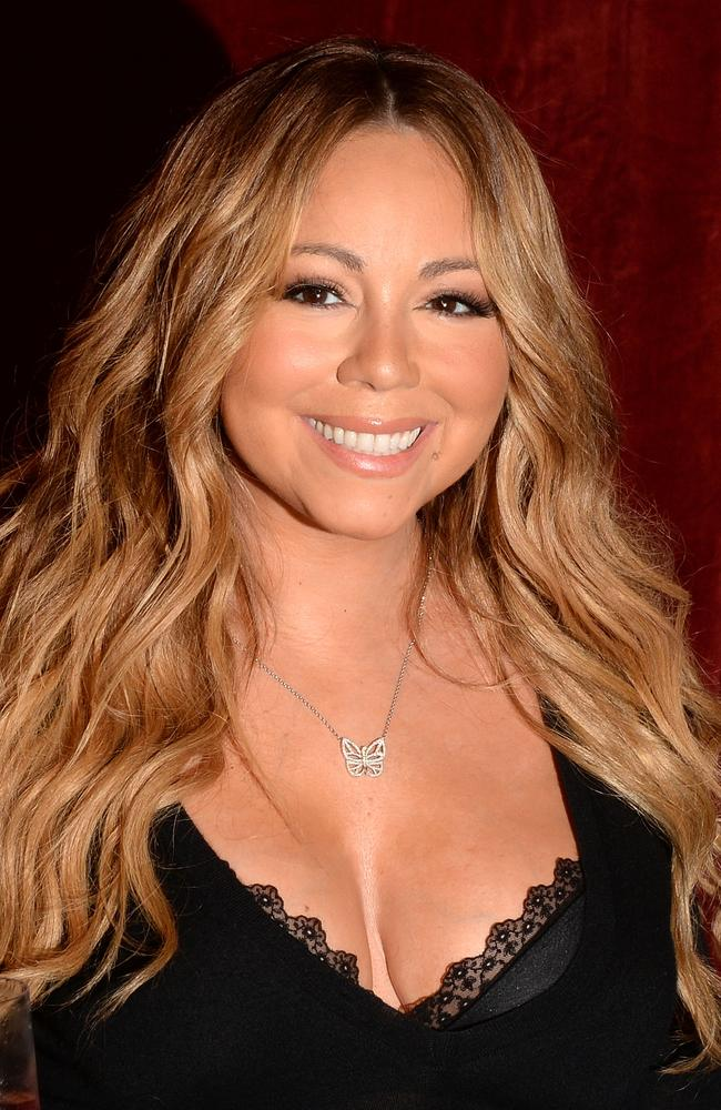 Mariah in New York earlier this month — sans Photoshop. Getty Images