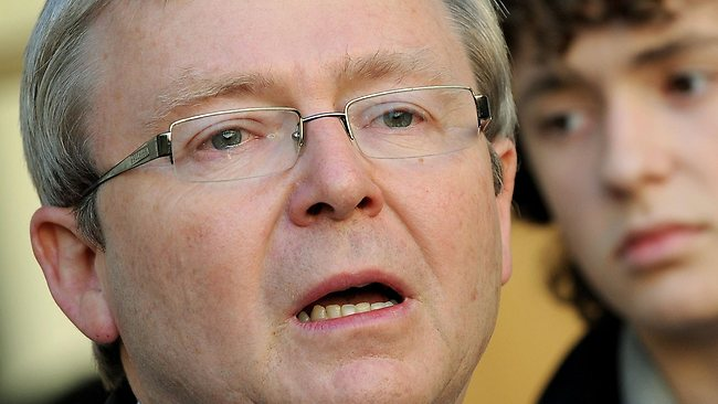Kevin Rudd sheds a tear at a press conference after being deposed as prime minister by his deputy, Julia Gillard.