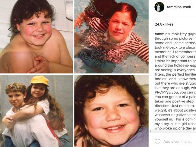 Tammin Sursok posted these throwback pictures to Instagram on Monday, to inspire people who are struggling. Tammin Sursok/Instagram