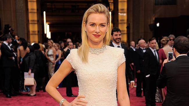 Naomi Watts arrives at the Oscars.