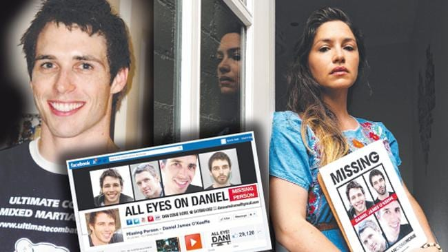 STILL WAITING: Loren O'Keeffe has vowed she will never stop looking for her brother, Daniel James O'Keeffe who disappeared in July 2011.