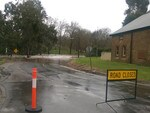 A road closed near the Onkaparinga River at Oakbank. Picture: Jordana Schriever