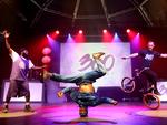 Basketballman, B Boy Sette and Peter Sore who will be performing at the Royal Croquet Club. Picture: Calum Robertson