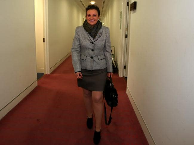 Here come the newbies … The Palmer United Party's Jacqui Lambie will be sworn in as a senator today.