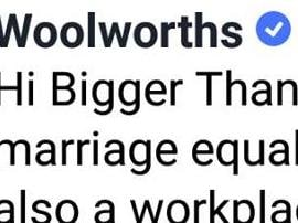 wOOLIES HAS DISTANCED ITSELF FROM cORBETT'S VIEWS ON ssm