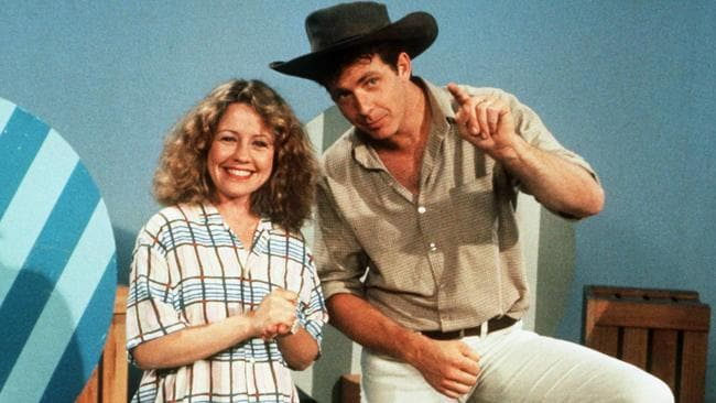 Noni Hazlehurst and Philip Quast hosted Playschool for many years.