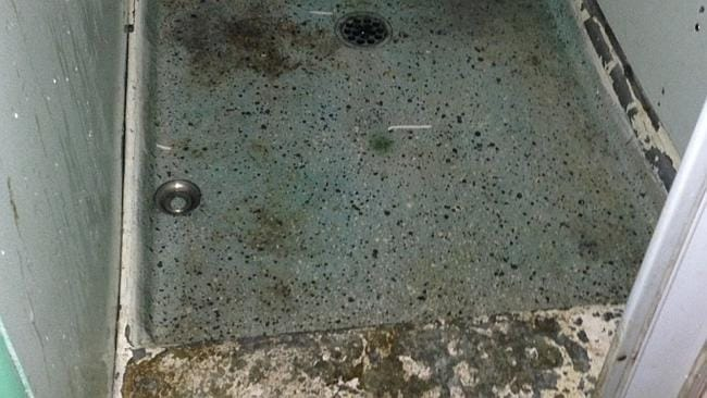 Hygienic .. The shower floor. Picture: Supplied