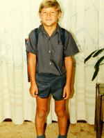 As a schoolboy in Dampier.