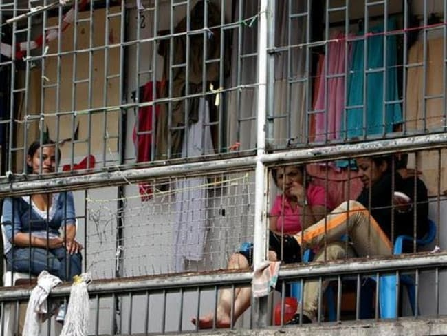 Overcrowded: El Buen Pastor women's prison in Bogota, Colombia where Australian Cassandra Sainsbury is being held on drug trafficking charges. Picture: Supplied