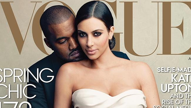 Just jealous? ... Kimye's appearance on the April cover of US Vogue has sparked a flurry of hate on social media sites. Picture: Vogue