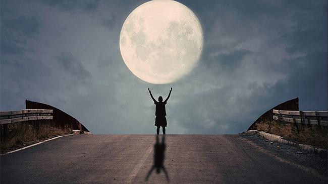 Whole Moon In His Hands: another amazing image by amateur Albanian photographer Adrian Limani.
