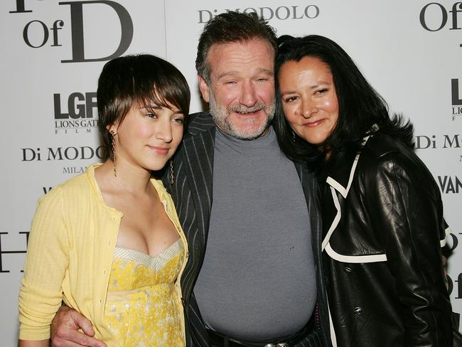 'Divorce is expensive' ... Robin Williams with then-wife Marsha and daughter Zelda in 2005. Picture: Evan Agostini
