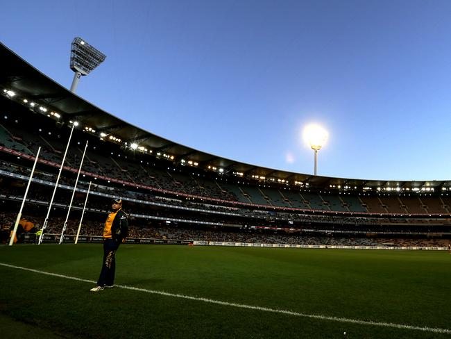 The MCG lost three light towers in the second term. Picture: Tim Carrafa