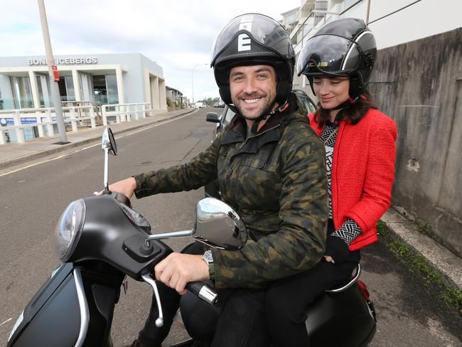 Darren McMullen and his girlfriend Crystal Reed at Bondi in April this year.