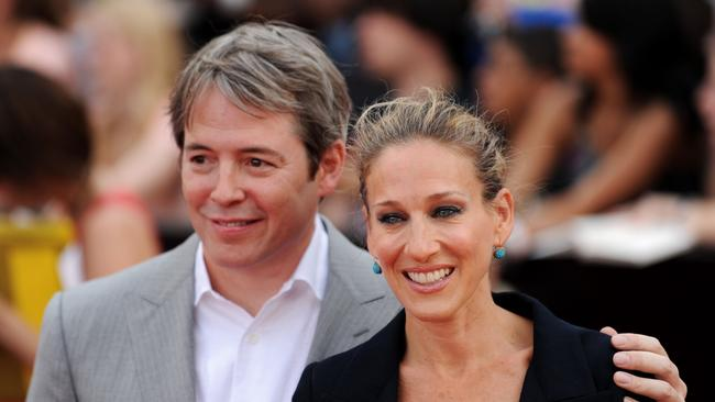 Matthew Broderick and wife Sarah Jessica Parker. Picture: AFP