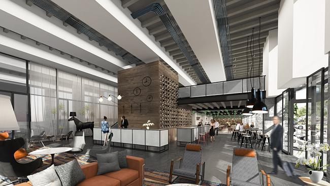 An artists impression of the interior on the Brisbane showgrounds hotel
