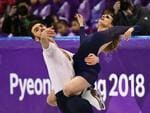 France's Gabriella Papadakis and France's Guillaume Cizeron. Picture: AFP PHOTO / ARIS MESSINIS