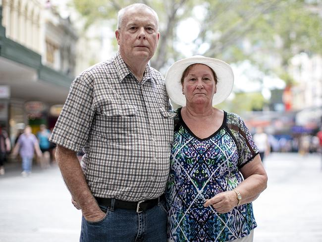 Niels and Joyce Petersen are battling BoQ after losing their life savings to an allegedly fraudulent financial planner. Picture: Jack Tran
