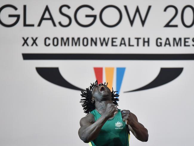 Aussie weightlifter Francois Etoundi has been charged with assault after an incident in the athletes' village.