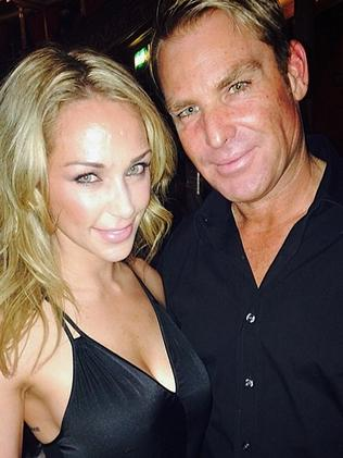Shane Warne and Emily Scott at Coldplay