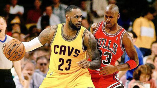 (L-R) LeBron James v Michael Jordan — who is the GOAT?