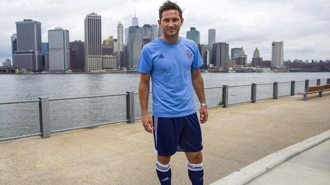 Lampard joined new MLS franchise New York City FC after 13 years at Chelsea.