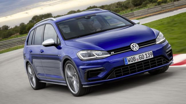 The new VW Golf R wagon has more grunt, but still not quite as much as it does in Europe. Picture: Supplied.