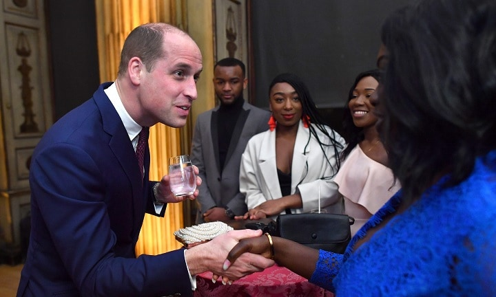 Britain's Prince William, Duke of Cambridge meets young people who have benfitted from the Centrepoint charity on his arrival to present the 2018 Centrepoint Awards and deliver a short speech about the charity's work, at Kensington Palace in London on February 8, 2018. / AFP PHOTO / POOL AND AFP PHOTO / Ben STANSALL