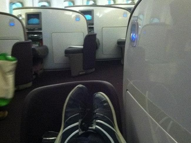 Life of luxury .. Elliot Rodger posted this selfie from the first-class cabin of a plane.