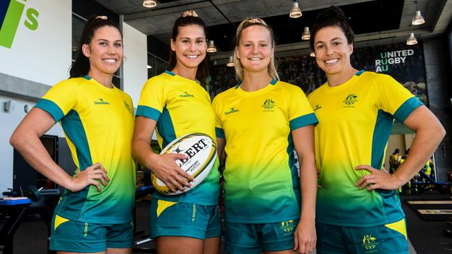 Charlotte Caslick, Demi Hayes, Emma Sykes and Emilee Cherry will all line up for Australia at the Commonwealth Games.