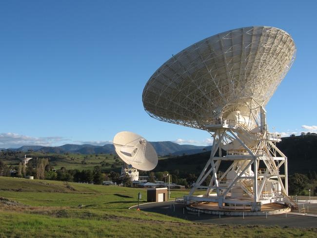Satellite dishes at the Canberra Deep Space Network, operated by CSIRO on behalf of NASA.