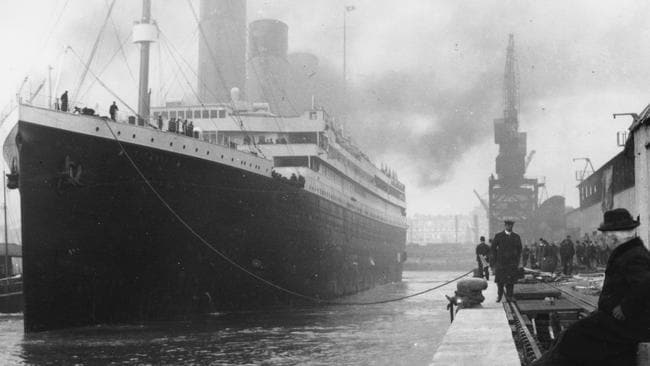 The Titanic sunk in 1912. Picture: The Artefact Exhibition
