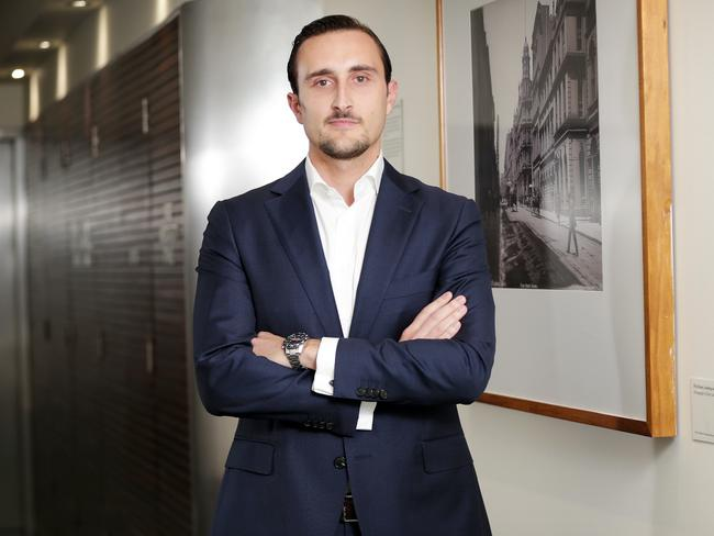 Investment manager Miki Cvijetic is kicking career goals. Picture: Christian Gilles