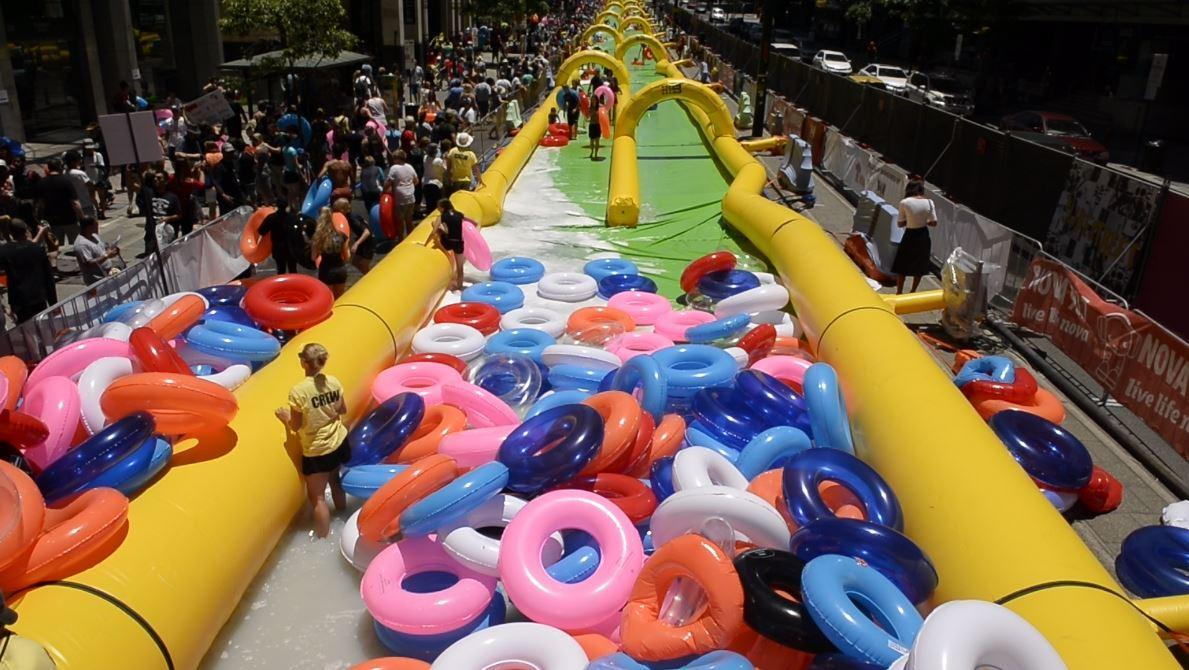 New 320k Slide Opens Today At Marion Outdoor Pool To Get The Fun Times Splashing