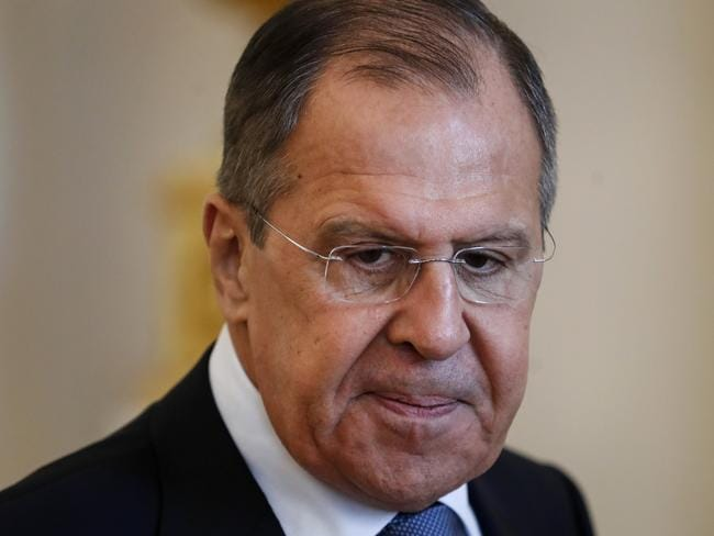 """Russian Foreign Minister Lavrov said that Moscow has """"irrefutable information"""" that the chemical weapons attack in Syria was """"a fabrication."""" Picture: AP Photo"""