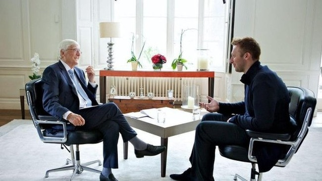 Sir Michael Parkinson interviews Ian Thorpe in a world exclusive on Channel 10 / Picture: Supplied