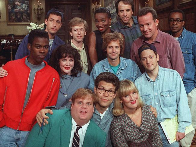 Al Franken, front, centre, with the cast of Saturday Night Live. Picture: Supplied