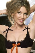 2005. Singer Kylie Minogue in 2005 image promoting her Love Kylie lingerie range. Minogue/Actor P/