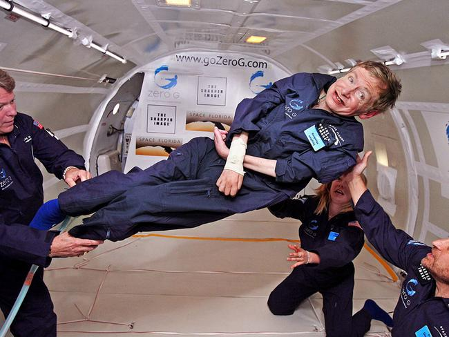 Hawking achieved a dream of experiencing weightless flight, but always wanted to travel space. Picture: Capital Pictures/TheMegaAgency.com