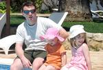 <p>A photo taken the day Madeleine McCann, right, went missing from the family's holiday apartment in Praia da Luz, Portugal.</p>