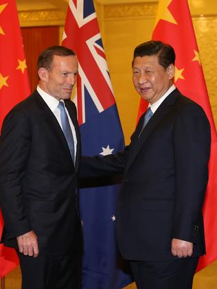 Power games ... Tony Abbott also met with Chinese President Xi Jinping in Beijing.