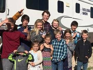 Supplied Editorial Susie and Dan Kellogg and their 12 kids live life on the road.