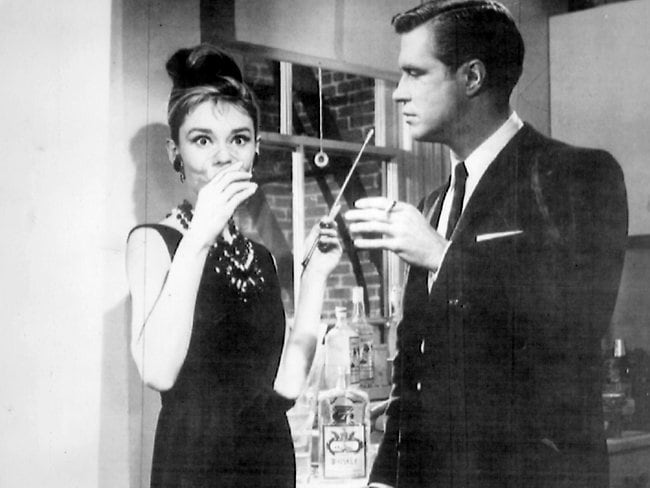 Audrey Hepburn and George Peppard in Breakfast at Tiffany's. Picture: Supplied
