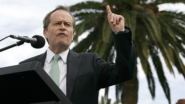 Leader of the Opposition Bill Shorten is no stranger to impassioned speeches. Picture: Marie Nirme