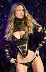 Martha Hunt walks the runway during the 2016 Victoria's Secret Fashion Show on November 30, 2016 in Paris, France. Picture: AFP