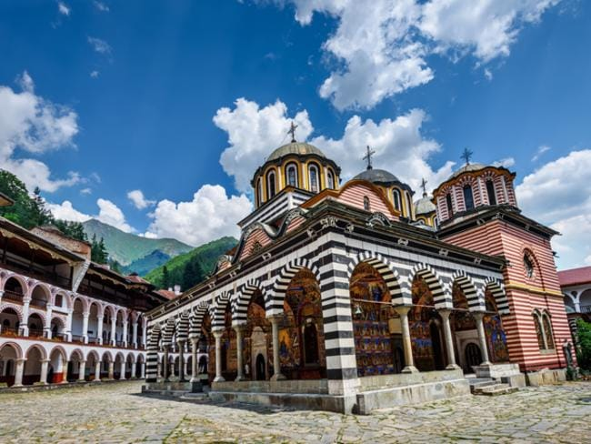 Rila Monastery is a famous monastery in Bulgaria.