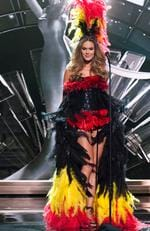 Annelies Törös, Miss Belgium 2015 debuts her National Costume on stage at the 2015 Miss Universe Pagaent on December 16, 2015 in Las Vegas. Picture: HO/The Miss Universe Organization