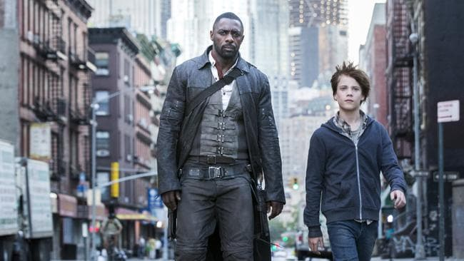Idris Elba and Tom Taylor in a scene from the movie The Dark Tower, which hit cinemas this year. Supplied by Sony Pictures.