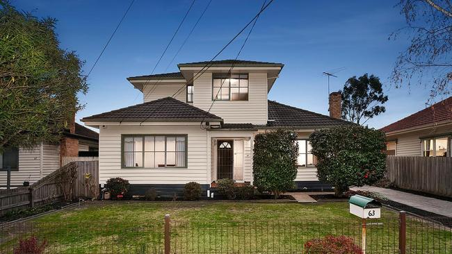 63 Beauford St, Huntingdale. Sold for $1.19m in August 2017