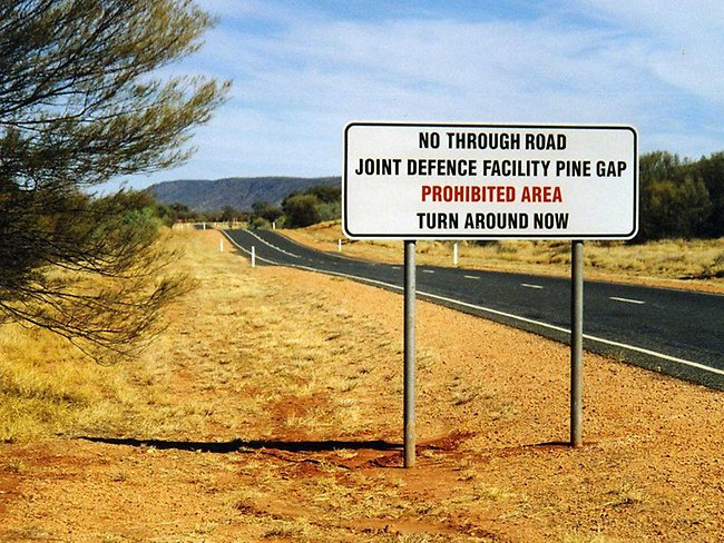 Top Secret sites: one of the world's biggest spy bases is located in the middle of central Australia at Pine Gap, NT.